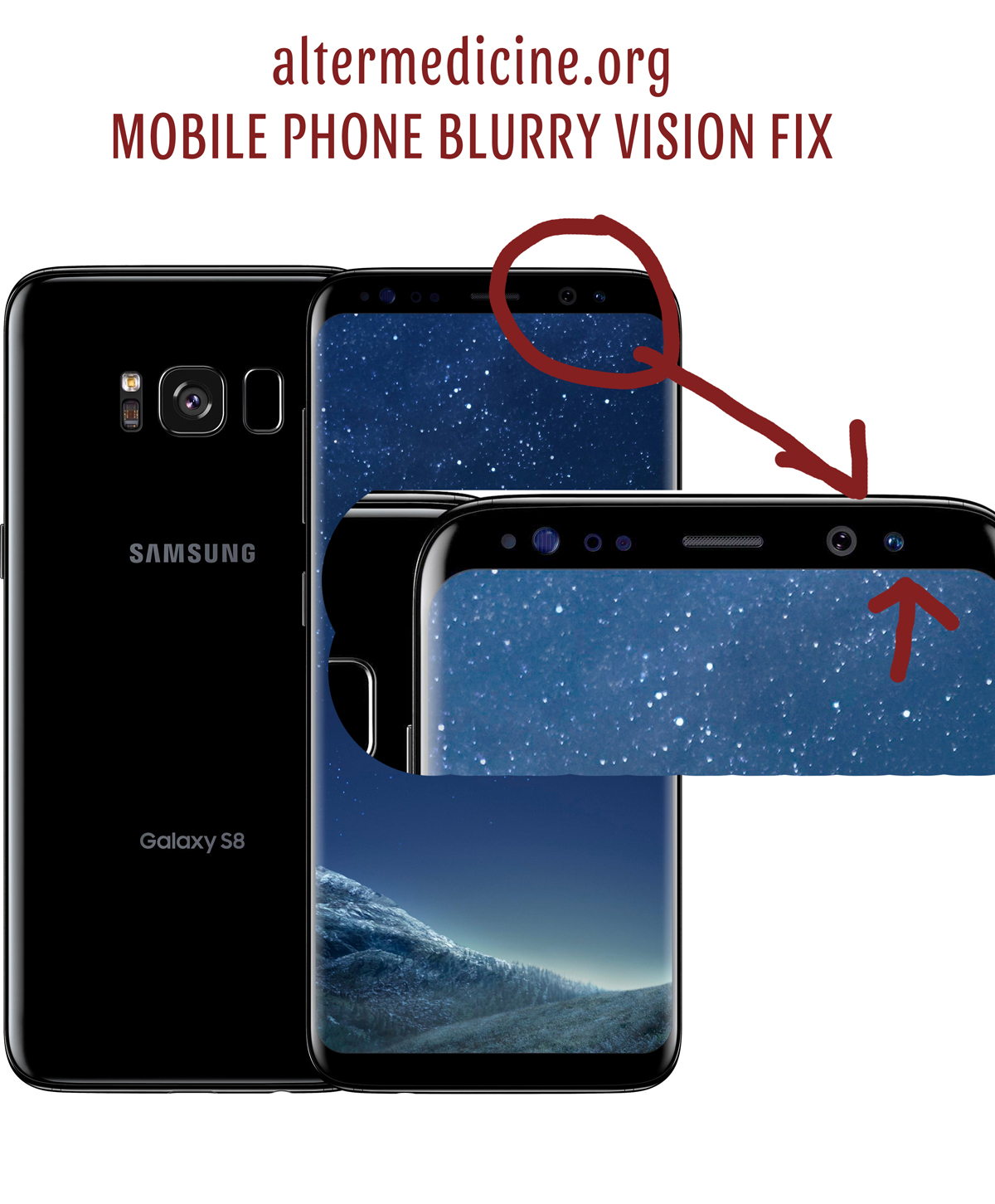 mobile phone blurry vision